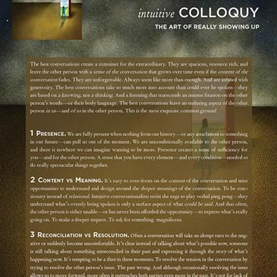 Intuitive Colloquy